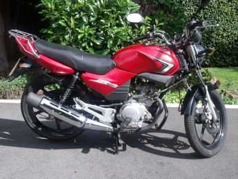 Yamaha YBR125 YBR 125 Learner Legal Cards welcome Commuter Petrol Red at Handy Vehicle Sales Bradford