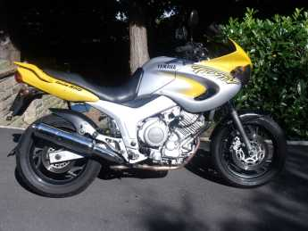 Yamaha TDM850 Classic collectable Sports Tourer Petrol Yellow Silver at Handy Vehicle Sales Bradford